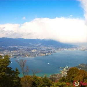 The view from Mount Misen in Miyajima