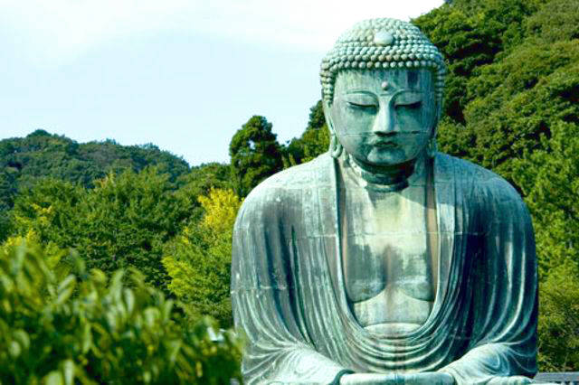 The Great Buddha - A Gigantic Statue of Buddha in Kamakura.